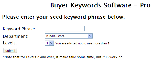 Buyer Keywords Tool